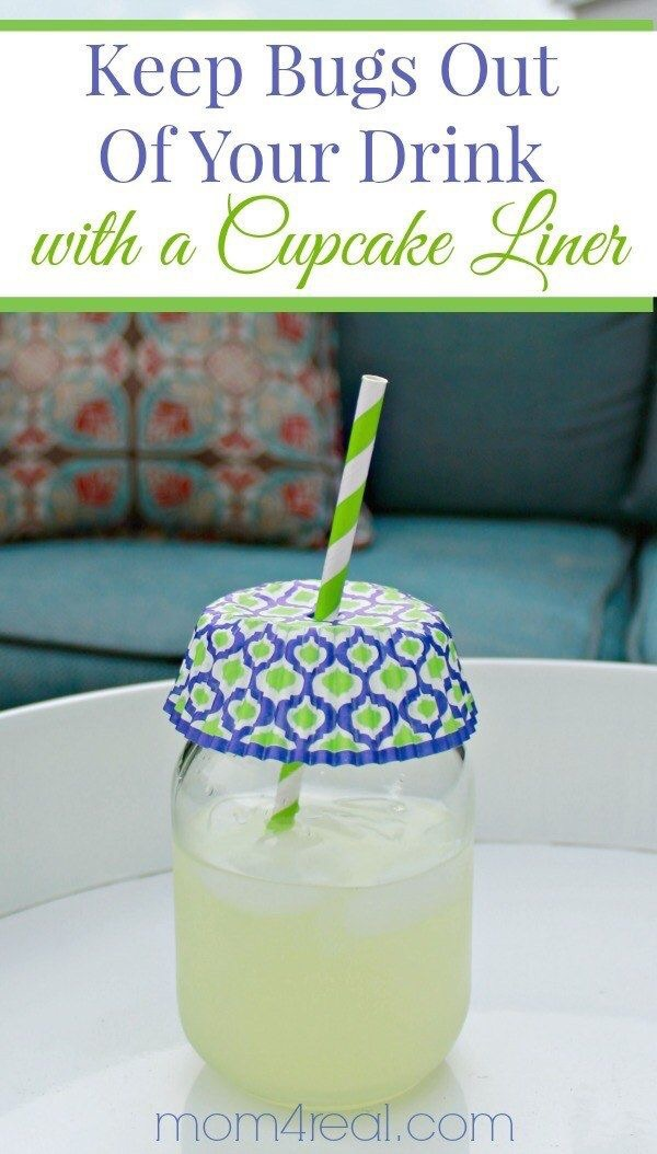 Keep the bugs out with pretty cupcake liners!