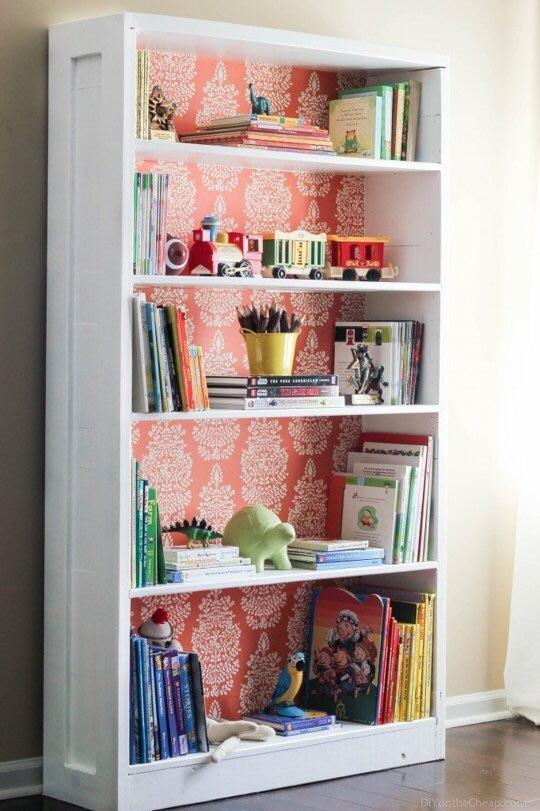 Back your bookshelves