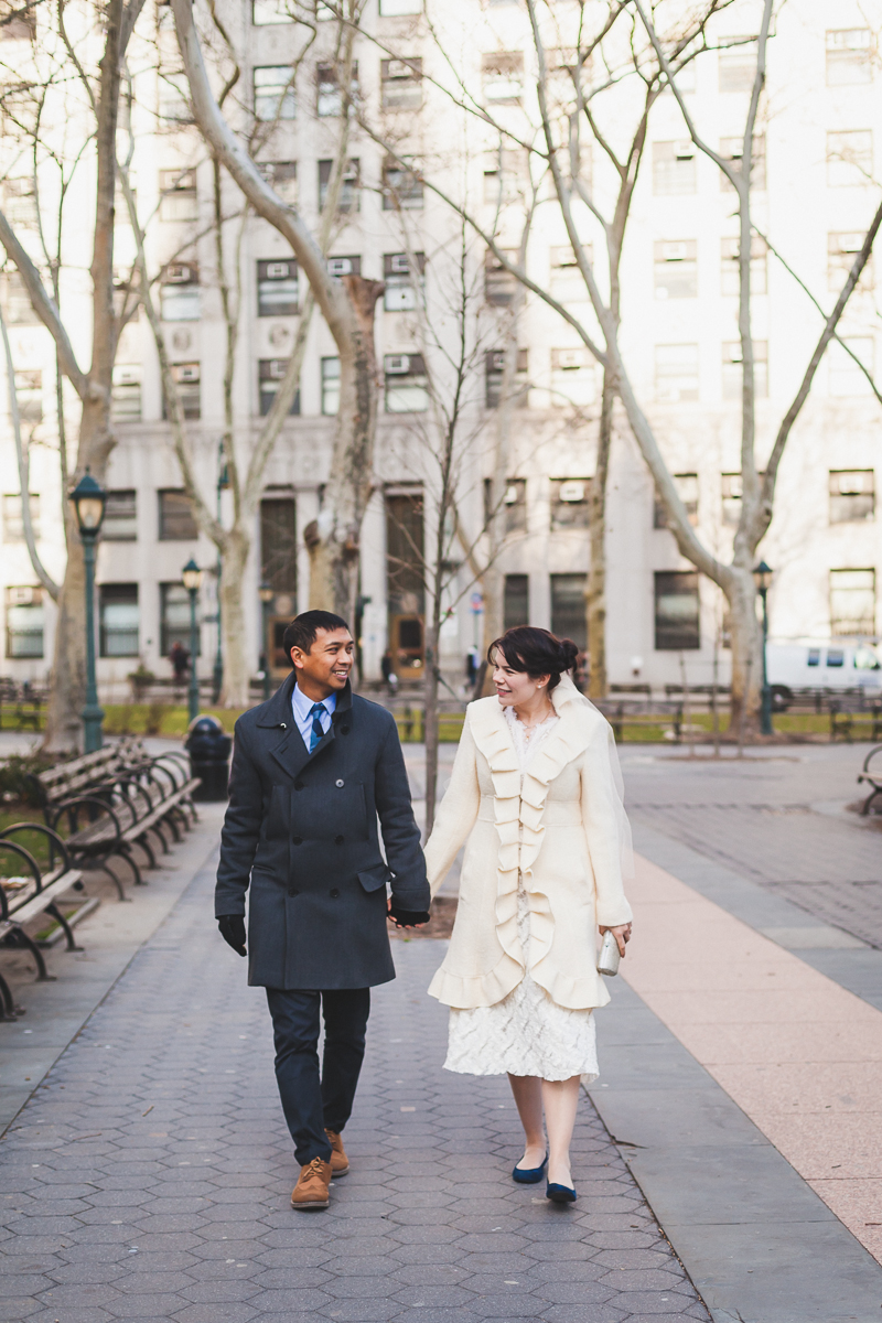New years eve city hall wedding new york city erin and for City hall wedding dresses nyc