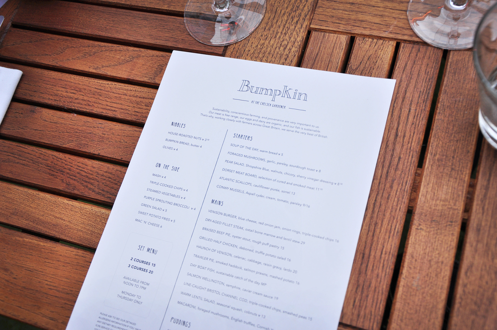 Bumpkin's Autumn Menu - love the fonts and layout, so quirky!