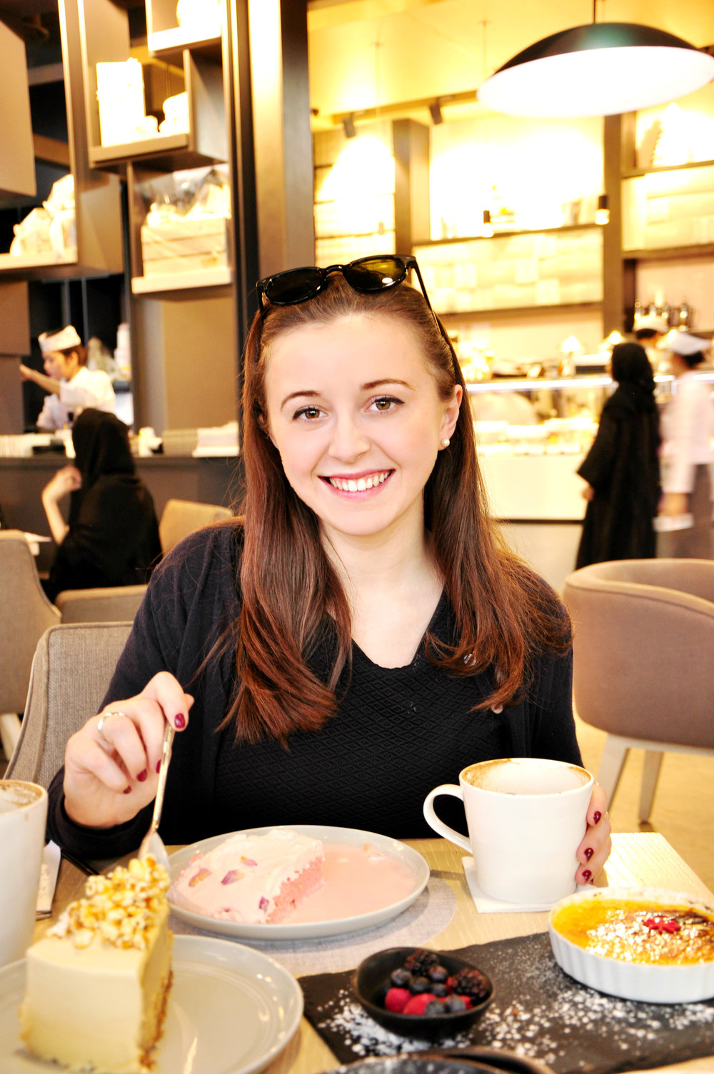 Sophie reviewing restaurants and hotels in Dubai