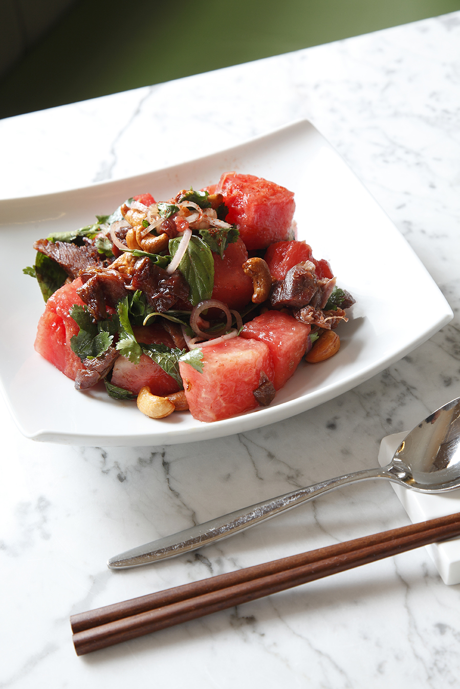 The Duck Watermelon Salad