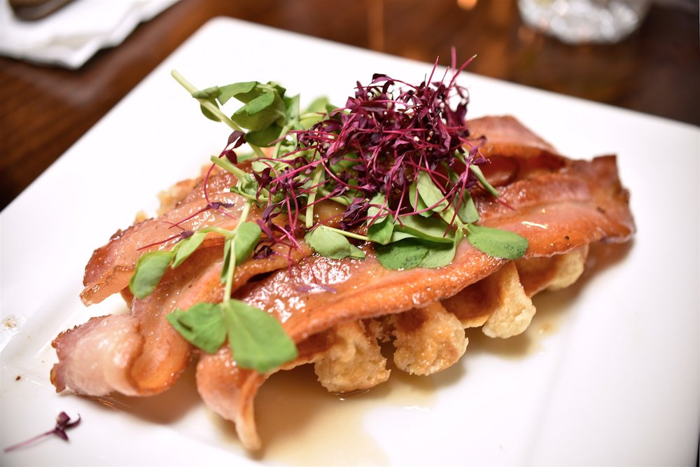 Waffles with Bacon - £4.95