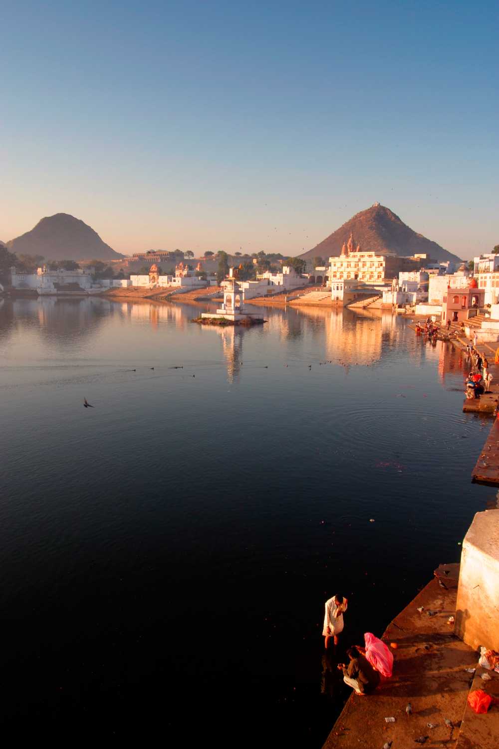 Puja on Pushkar's holy lake  Photo by Searching for Satori