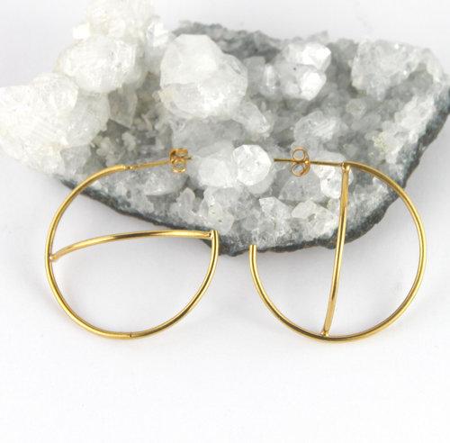 0b5517f3e30ac Gold Orbit Hoop Earrings — Marcia Vidal