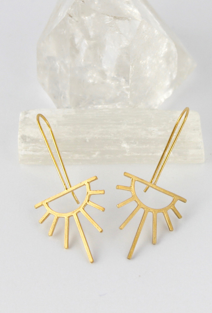 Gold Sunburst earrings  for new beginnings