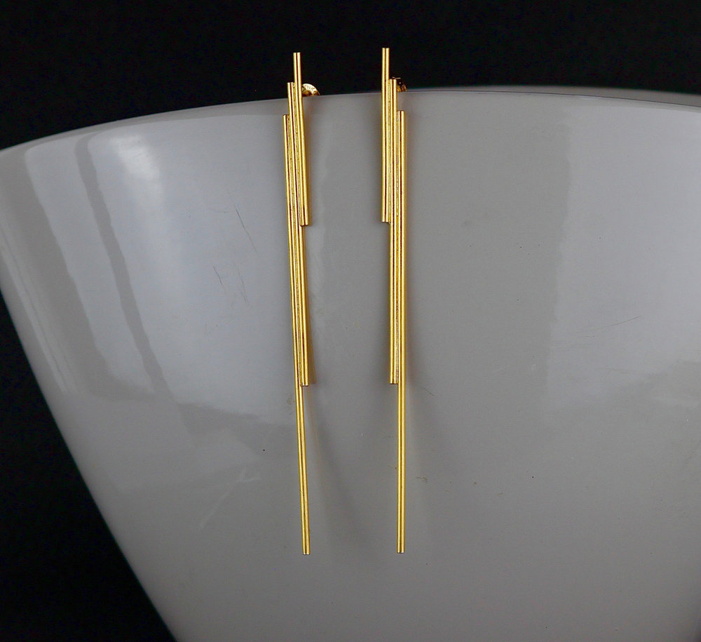 Gold Lightning Earrings  - Dynamic