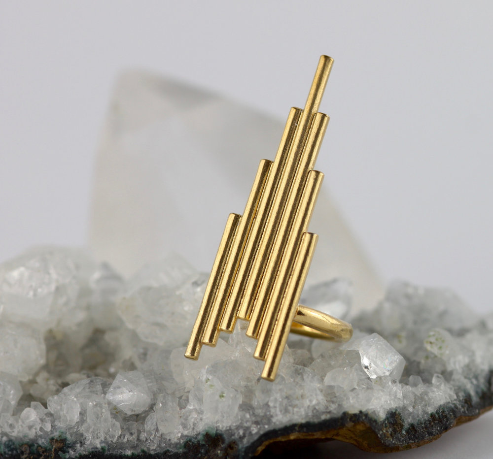 Gold Skyline Ring  - Tower of Power