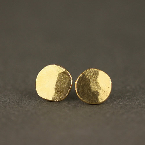 5a88fdee7 Gold Large Coin Stud Earrings — Marcia Vidal