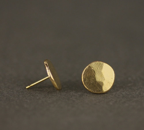 a26c244f0 Gold Large Coin Stud Earrings. gold coin stud earrings Marcia Vidal.jpg