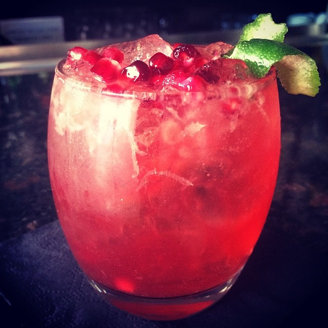Come on in for a Pomegranate Caipirinha through this Tuesday to support @red and fight AIDS. Let's #eatred #drinkred #savelives #86AIDS #together #nyc #westvillage