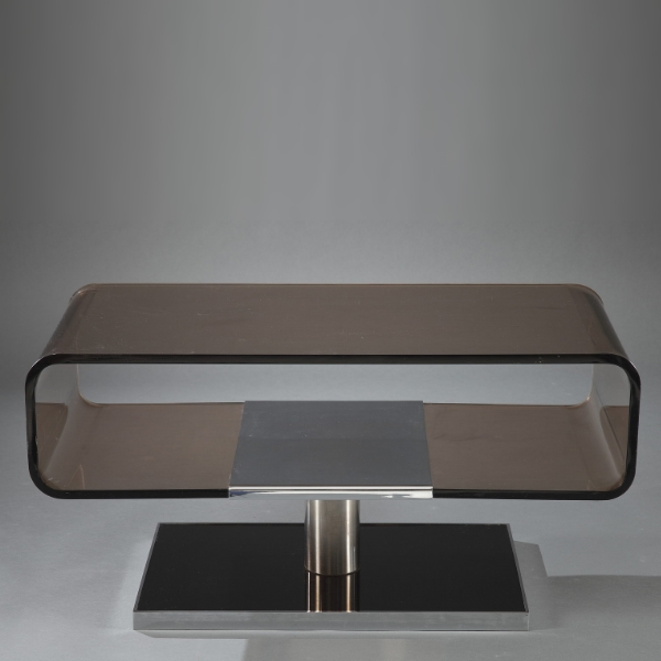Table Basse En Plexiglas Des Ann Es 1970 Meubles