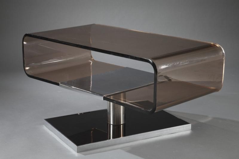Table basse en plexiglas des ann es 1970 meubles - Meuble en plexiglas ...