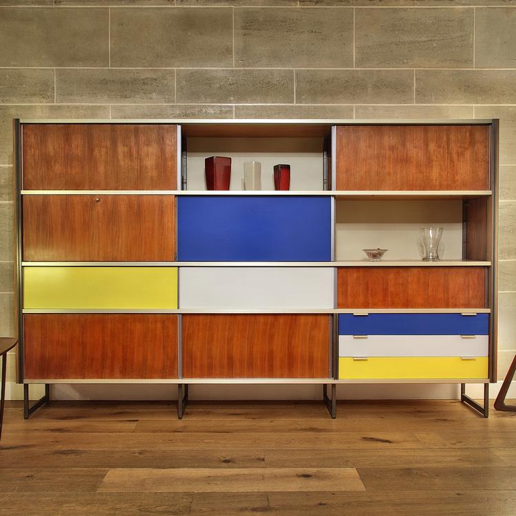 meuble mural de rangement design georges frydman 1950