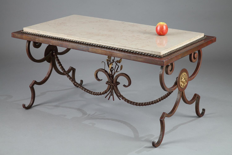 Fer forg good guridon en fer forg with fer forg elegant - Table en fer forge et bois ...