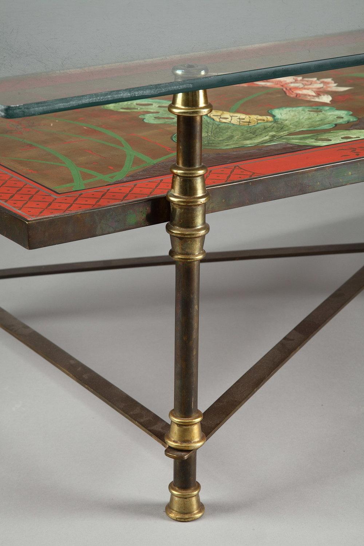 maison jansen decoration - table basse d cor japonisant attribu e la maison