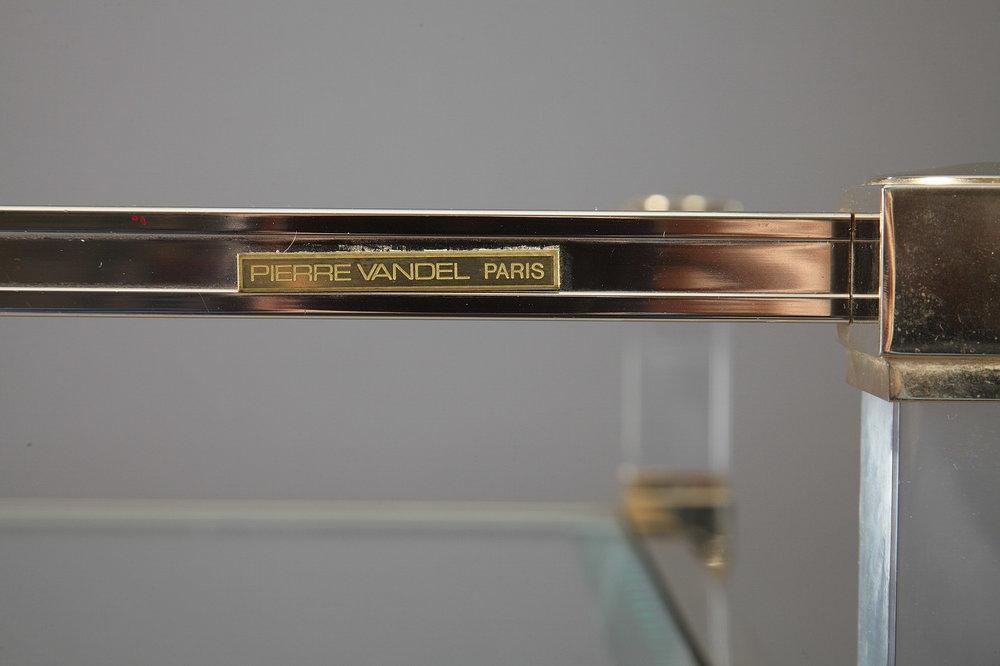 Bureau en plexiglas et métal doré de pierre vandel u2014 meubles