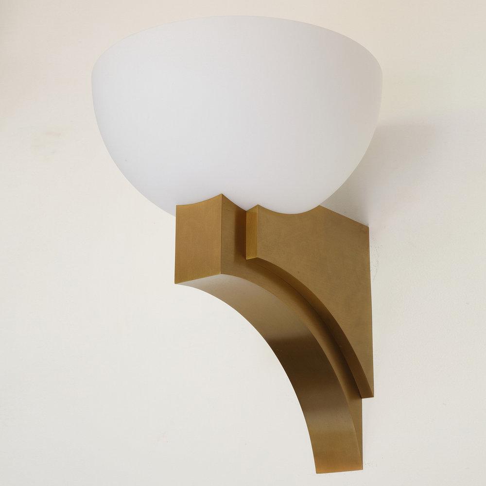 applique en verre opalin de jean perzel mod le 348 b v luminaires. Black Bedroom Furniture Sets. Home Design Ideas