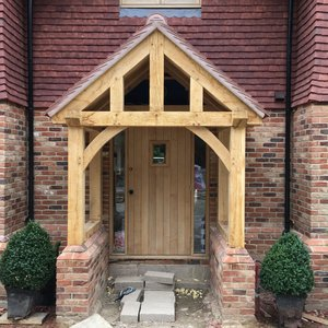 Oak frame porch frame design reviews for Midwest motors hutchinson ks