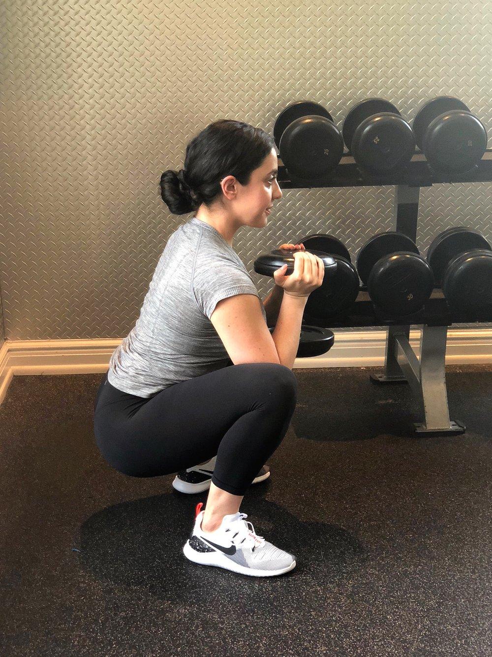 Valerie Bisharat squat