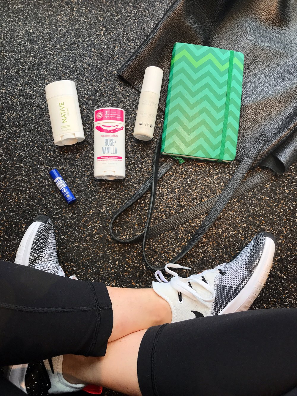 Valerie Bisharat gym bag essentials