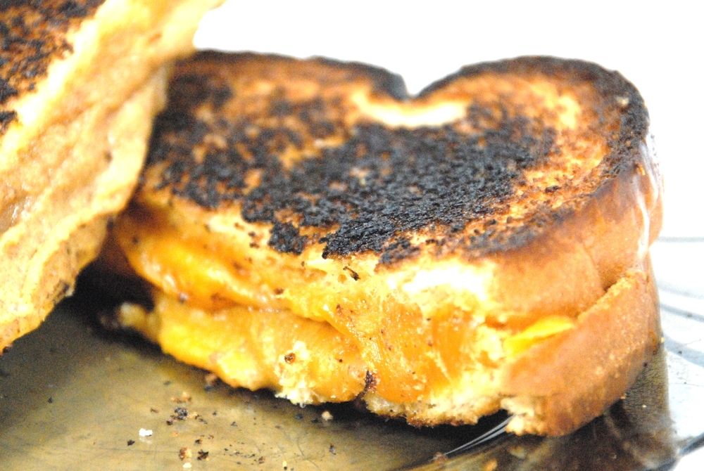 Grilled cheese sandwich with Forte Orange date spread