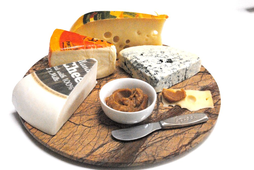cheese platter with Forte orange date spread.jpg
