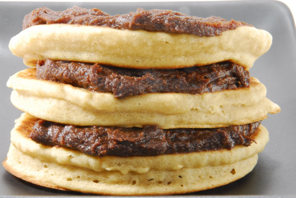 pancakes with Forte chocolate spread