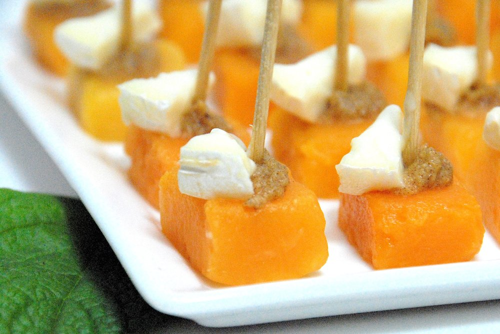 Squash bites with brie and Forte Orange date .JPG