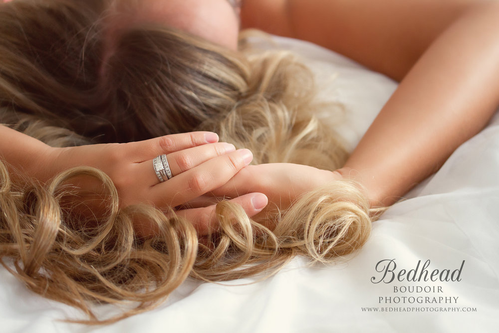 bedhead boudoir photography client shoot