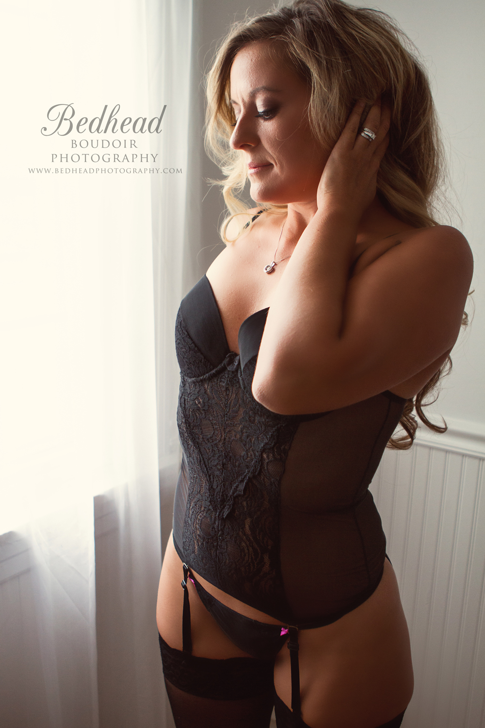 Bedhead Boudoir Photo shoot Chicago area