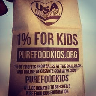 @cbsnuts is donating 1% of profits from ballpark sales this @mariners season to Pure Food Kids! If you can't make it to a game head to cbsnuts.com, use the code PUREFOODKIDS and we'll feel that nutty love.