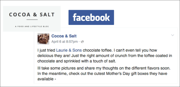 VISIT COCOA & SALT ON FACEBOOK  / SHOP FOR MOTHER's DAY  HERE