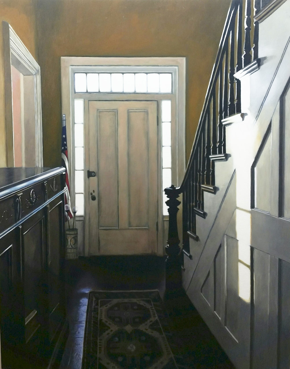 Webster's Hallway,   oil on panel,  28x22