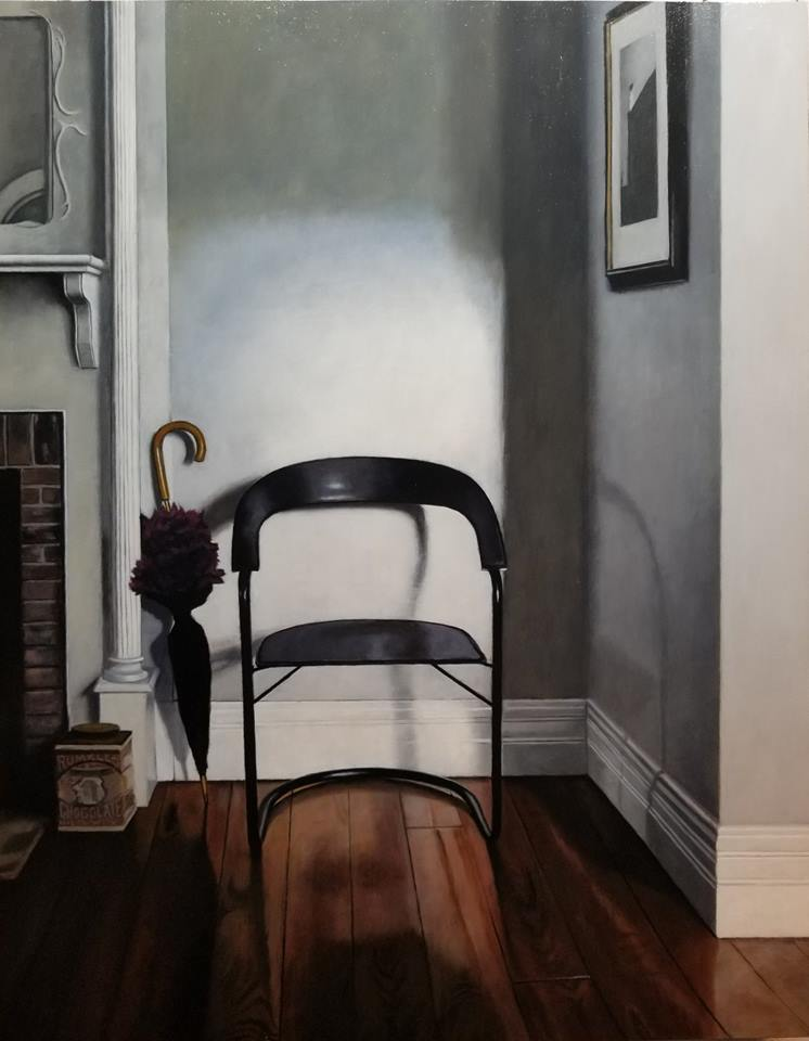 From a life, oil on panel, 28x22