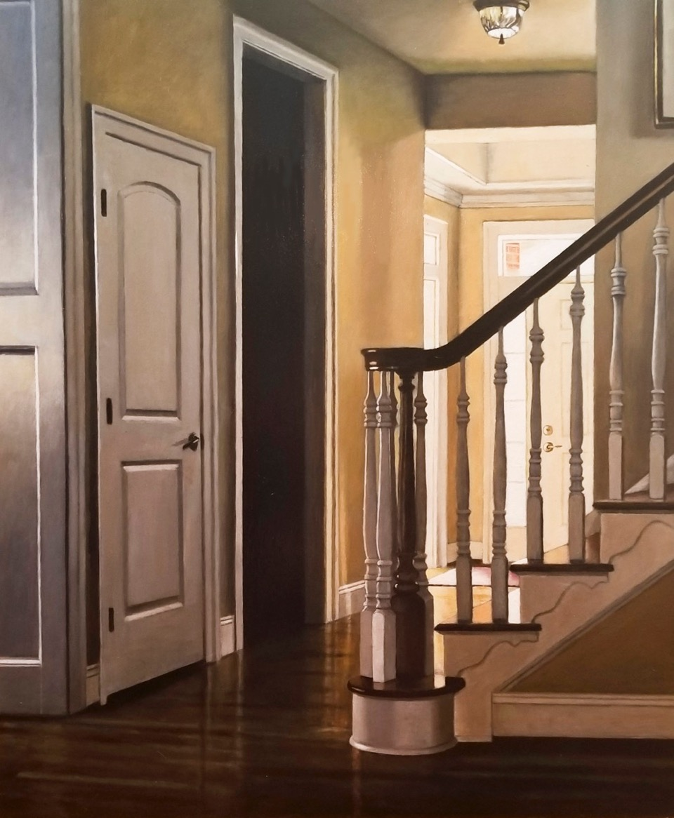 Matt's Foyer, oil on panel, 24x20 inches