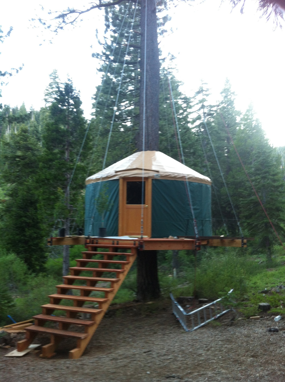 Finished Yurt Tahoe Treetop Adventure Park