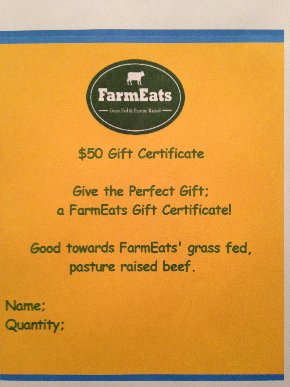 farmeats gift certificate