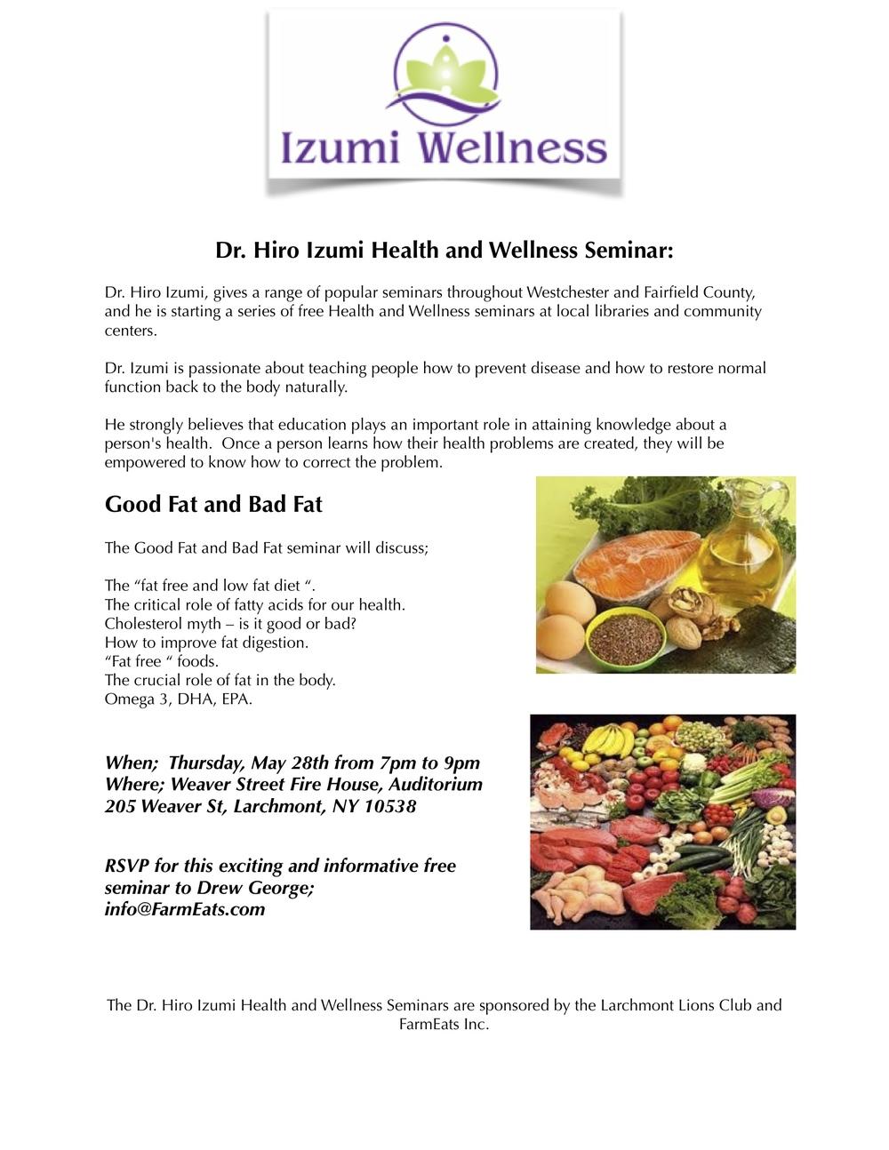 dr hiro izumi health and wellness seminar
