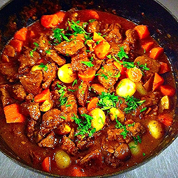 grass fed beef bourguignon