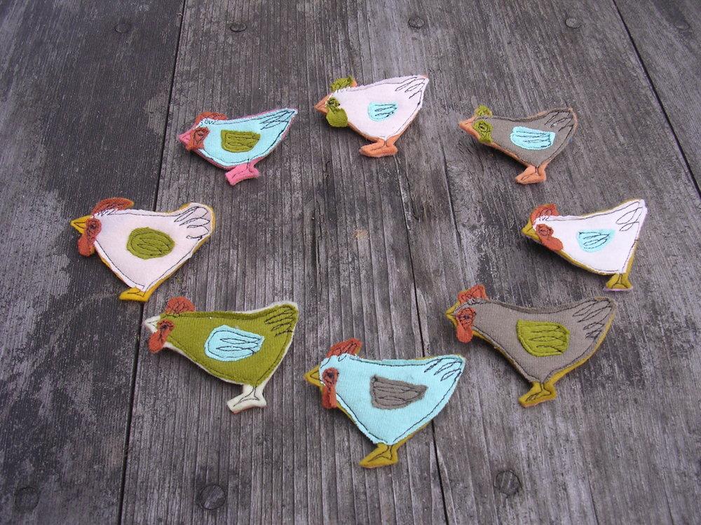 chicken pins