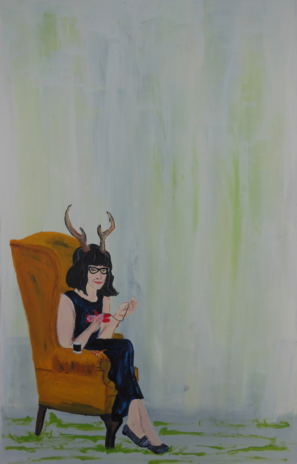 self portrait as a folk artist (2014)