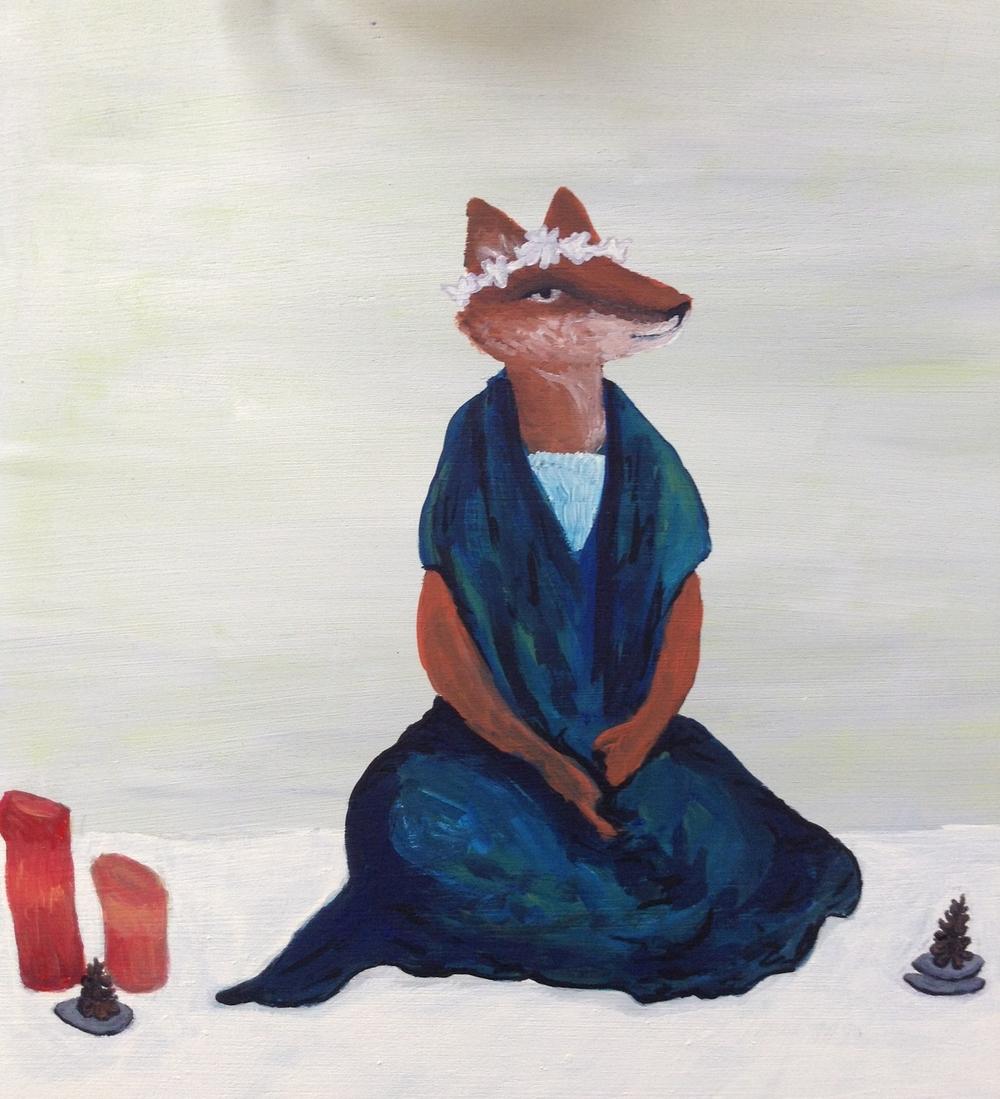 fox in snow (solstice)