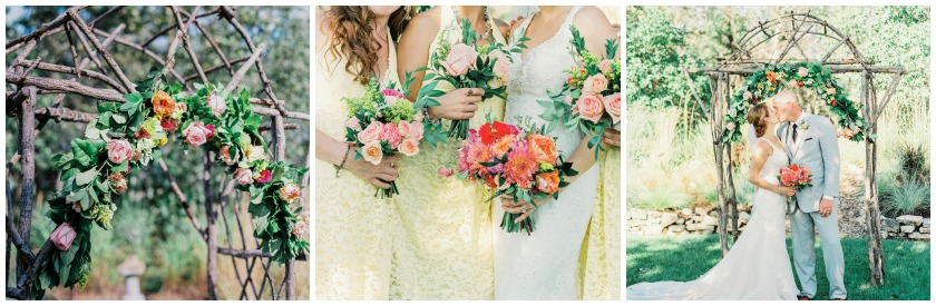 colourful summer wedding flowers