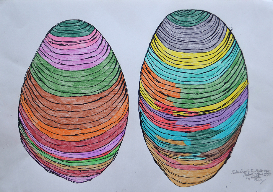 Fatu Enari  Two Easter Eggs Picture , 2017