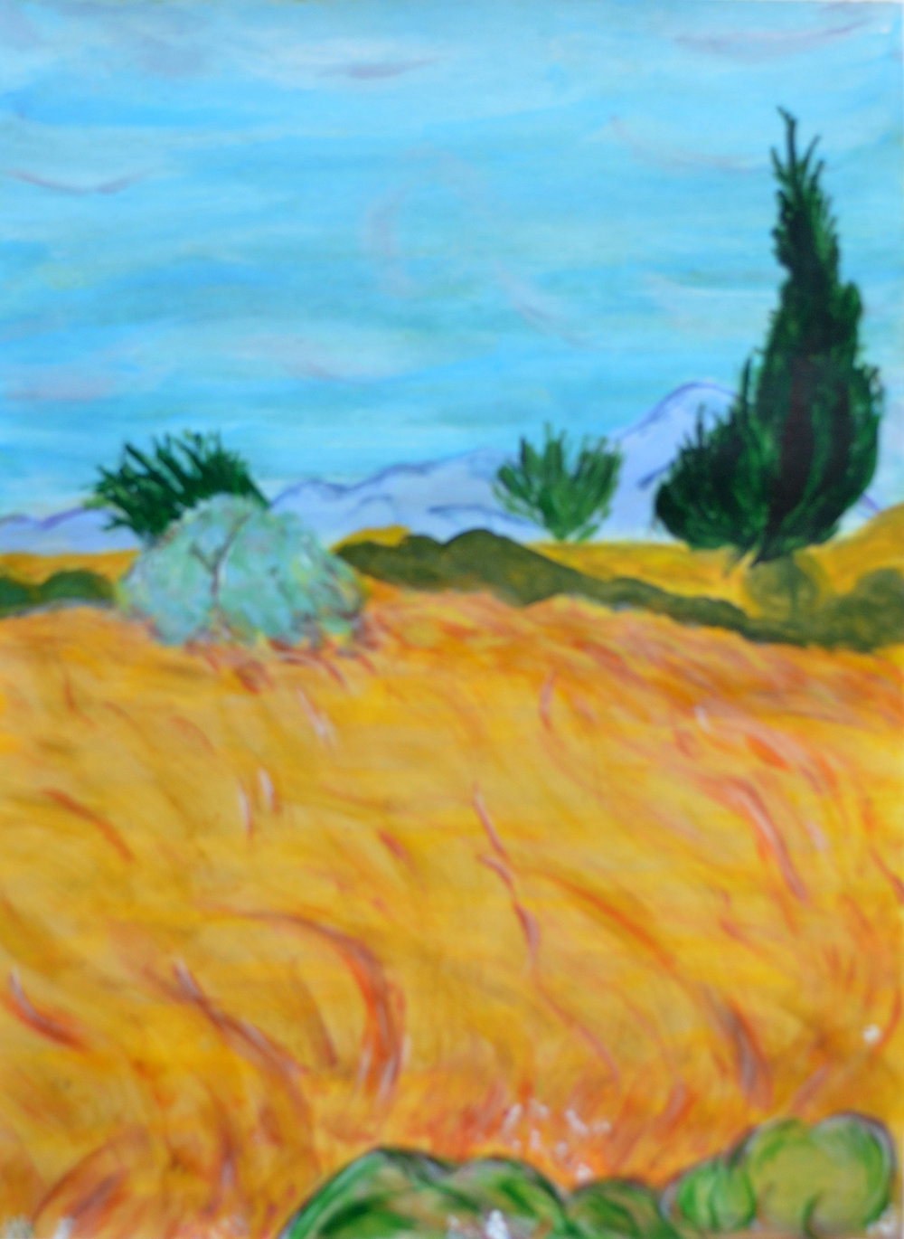Jean Wilson, Wheatfields in Autumn, 2017
