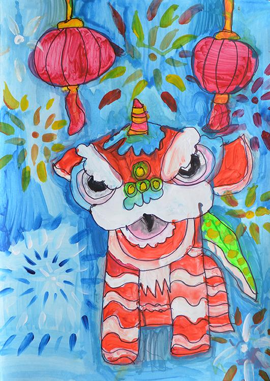 Bryan Lee  Chinese Lanterns & Dragon