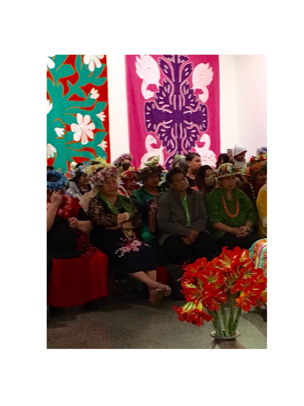 Attendees at the Mangere Arts Centre Exhibition Opening