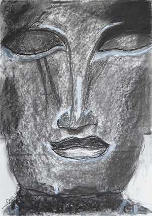 Eddie's Artwork  Face of Buddah