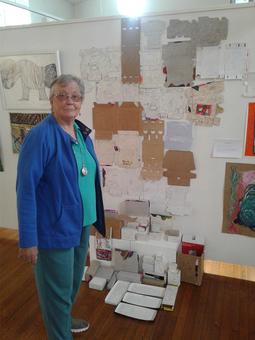 Sue Davy and her artwork
